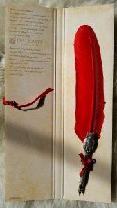 Schreibfeder mit Eulen Pen in Rot