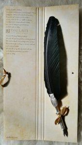 Veer met Uilen Pen Zwart