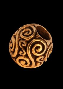 Wikinger Bartperle Bronze