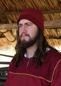 Viking Birka Muts Visgraad Wijnrood maat M