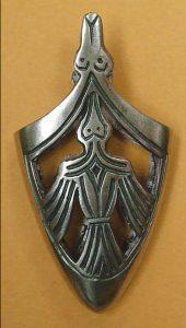 Wikinger Birka X.A.D. Scheide Endstuck Bronze