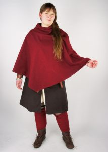 Viking Kaproen met grote kraag in Rood