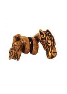 Wikinger Drachen Bartperle Bronze