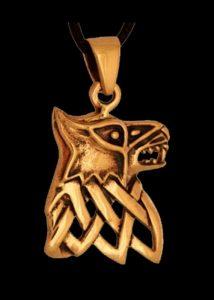Wikinger Fenris Wolf Anhanger Bronze