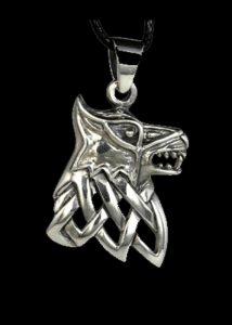 Viking Fenris Wolf Hanger Zilver