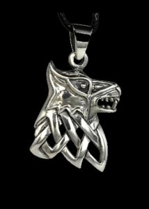 Game of Thrones House of Stark Hanger Zilver