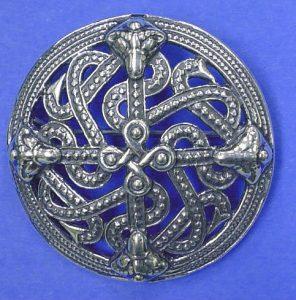 Viking Fibula Scandinavisch 10e eeuws zilver