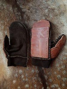 Wikinger Pantzer Handschuhe Leder links oder rechts