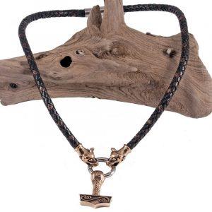Wikinger Anhanger mit Thorhammer von Bronze
