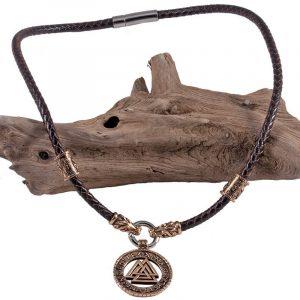 Viking Hunin en Munin Hanger Brons