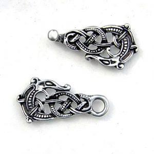 Viking Kaftan Sluiting Zilver Look