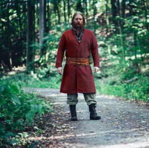 Wikinger Kaftan in Rot