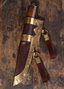 Viking mes Damast 256 lagen met Schede