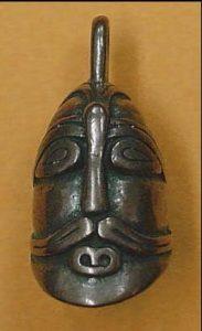 Viking Oorlogshoofd Hanger Brons, Aske, Zweden 11e eeuws