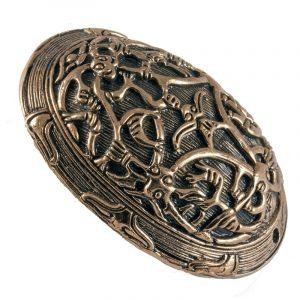 Viking Schildpad-Ovaal Fibula Brons