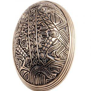 Viking Ovaal Fibula in Brons