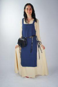 Viking Dames Overkleed in Blauw in ruwe Katoen