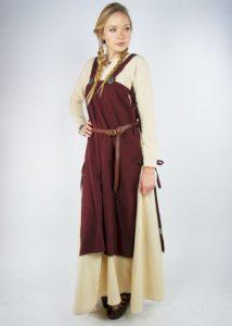 Wikinger Damen Überkleid in Rot
