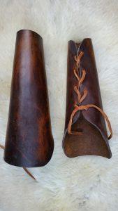 Viking Lederen Onderarm Beschermers