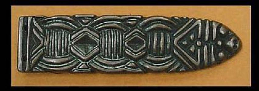 Viking Riemtong Eindstuk Brons, Noorwegen, 10e eeuws