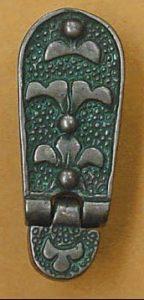 Viking Riemtong Eindstuk Brons, Great Moravia, 10e eeuws