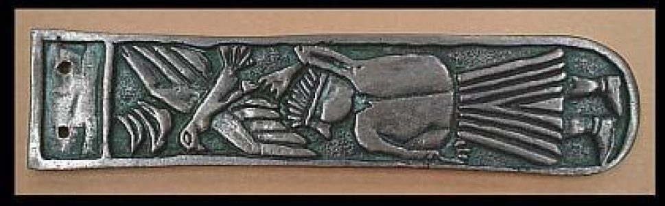Viking Riemtong Brons, Man with falcon, Moravsky 10e eeuws