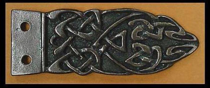 Viking Riemtong Eindstuk Brons, Scandinavia, 9-11e eeuws
