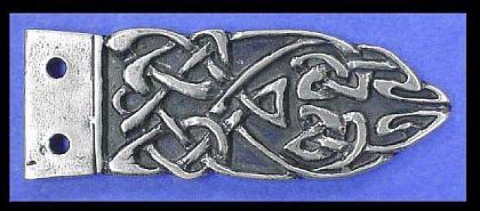 Viking Riemtong Eindstuk Zilver, Scandinavia, 9-11e eeuws