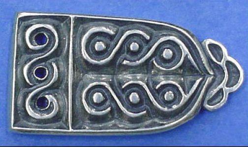 Viking Riemtong Eindstuk Zilver, Great Moravia, 10e eeuws