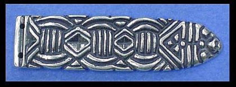 Viking Riemtong Eindstuk Zilver, Noorwegen, 10e eeuws