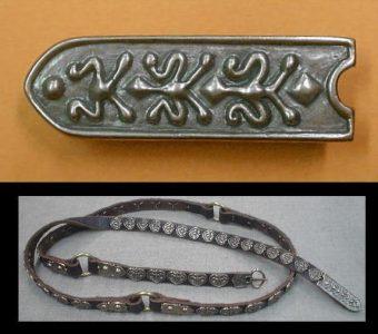 Viking Riemtong Eindstuk Brons, Great Polen, 10e eeuws