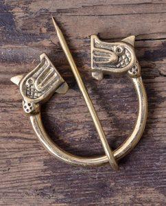 Viking Ringfibula met Drakenkoppen