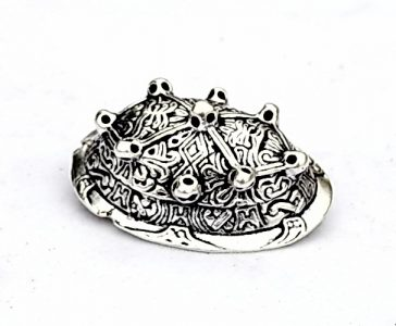 Viking Schildpad Ovaal Fibula Zilverkleur