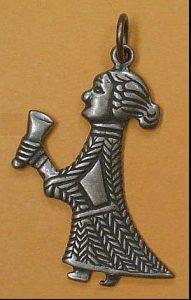 Wikinger Valkyrie Anhanger Bronze