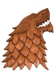 Wikinger Wolf Fenris aus Holz