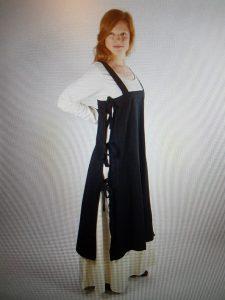 Wikinger Damen Überkleid in Schwartz