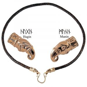 Viking Hugin en Munin Hanger Brons