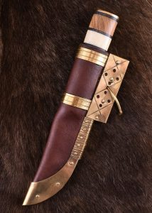 Viking mes Damast mit 256 lagen met Schede