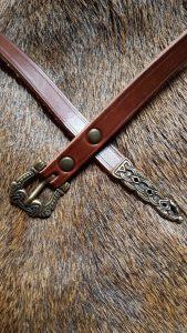 Viking riem 9 - 10e eeuws Bruin