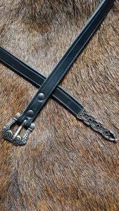 Viking riem 9 - 10e eeuws Zwart