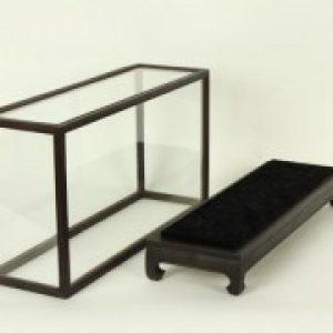 Vitrine Donkerbruin/Zwart 44 x 36 x 74 cm
