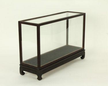 Vitrine Donkerbruin/Zwart 15 x 46 x 21,5 cm