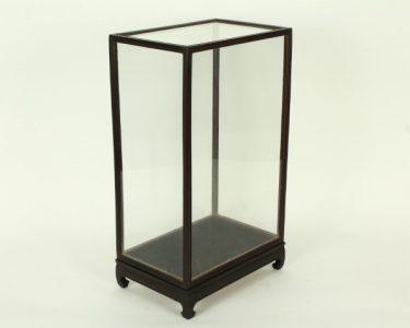 Vitrine Donkerbruin/Zwart 17 x 27 x 39 cm