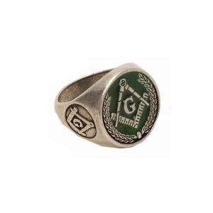 Vrij Metselaars Ring Groen