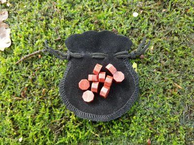 10 Siegellack-Tabletten in der Tasche