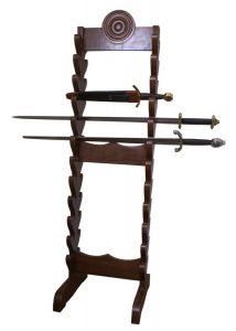 Zwaarden rek voor 24 zwaarden