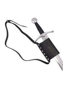 Gürtel mit Schwerthalterung  aus schwarzem Rindsleder
