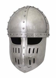 Kruisvaarders Helm 12e eeuws in M en L