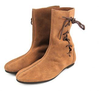 Middeleeuwse Halve Laarzen in bruin