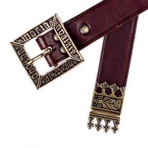 replica riem Deense Koning Erik ca. 1450 bruin